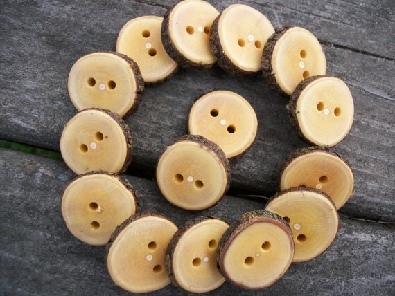 15 Handmade Lilac Buttons. 1 Inch Wide.