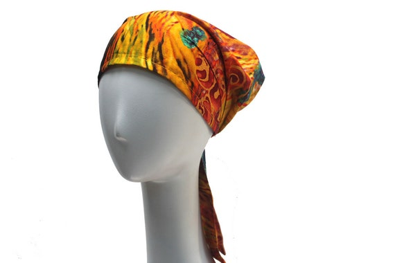 Light Cotton Orange Head Wrap