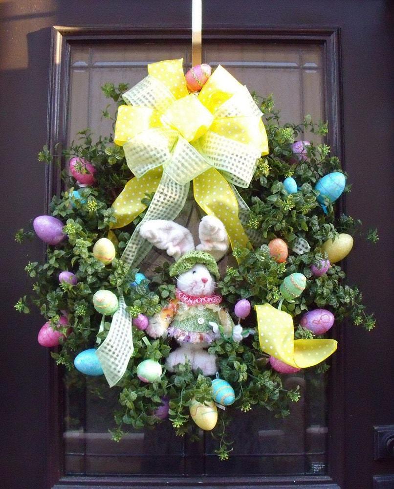 Easter Wreath Spring Wreath Designer Door Wreath Bunny
