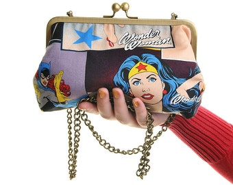 Wonder Woman Superhero DC Day Bag and Clutch In One