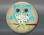 owl decor, fridge magnet, kitchen decor, large fridge magnet, cute owl MA-100