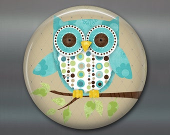 Owl kitchen decor - owl decor for the kitchen - owl gifts for her - round magnets for the fridge - refrigerator magnet - MA-100