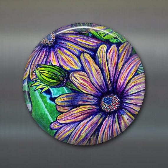 Daisy Kitchen Decor: Items Similar To Giant Magnet, Kitchen Decor, Purple Daisy