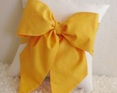 Yellow and Off-White/Cream Bow Throw - Accent Pillow - Made Upon Order -  by pillowsbycindee at etsy