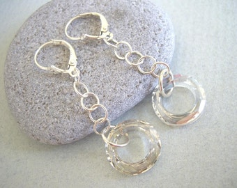 Swarovski Crystal Silver Shade Earrings