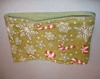 Sparkly Snowflakes and Candies Male Dog Diaper - Dog Belly Band - Available in all Sizes