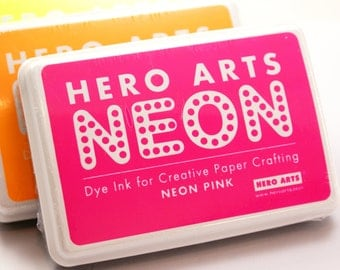 Hero Arts NEON PINK Ink pad for paper projects and scrapbooking