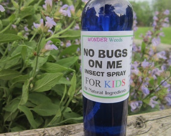 ORGANIC, ALL Natural Bug/Insect Spray for KIDS, Deet and Chemical Free, Smells great 4 oz