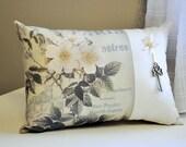 Paris floral pillow