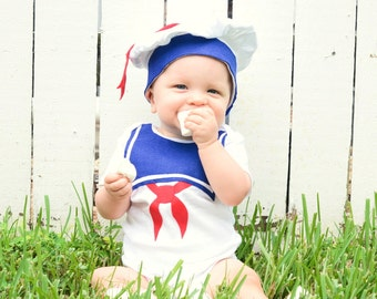 Baby Halloween Costume, Toddler Halloween Costume, Stay Puft Baby, Sailor Costume, Children , First Halloween, Ghostbusters, Marshmallow Man