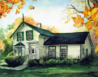 Grandma's House - Brooklin Ontario Heritage Building - Archival quality, limited edition print