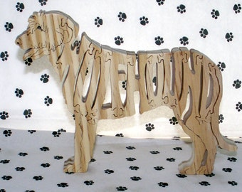 Irish Wolfhound Handmade Fretwork Wood Jigsaw Puzzle