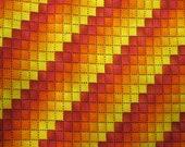Orange Yellow Red Geometric Fat Quarter