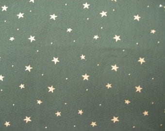 Green with Gold Star Fabric 2/3 yd