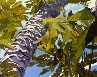 Papaya In The Sky Fine Art Oil Landscape Painting