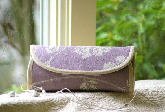 Phone wallet  - type  4 - lavender fields