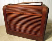 Philco Tube Radio Wood Tambour Door
