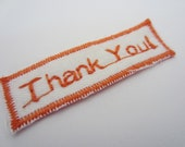 Customized--Embroidered Fabric Label on White