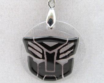 Black Autobot Symbol on ball chain necklace
