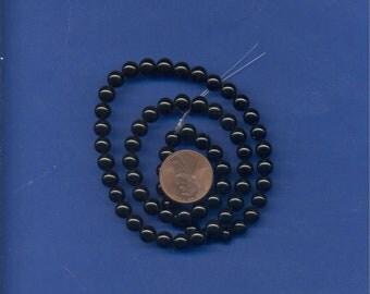 16 Inch Strand of Black Onyx 6mm Beads