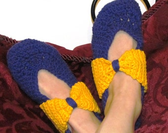 Pattern 58 All Bowed Up Slipper Pattern (permission to sell finished item)