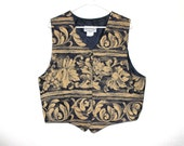 Royal Grunge 90s Gold Leaf Vest