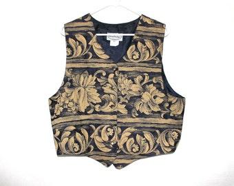 Royal Grunge 90s Gold Leaf Vest