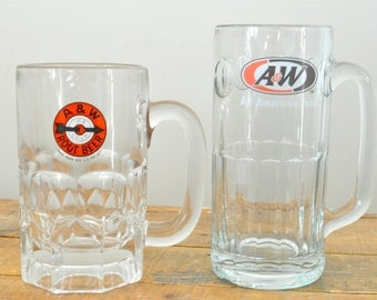 A & W Root Beer Mug Pair Set of Two Frosty Root Beer Mugs