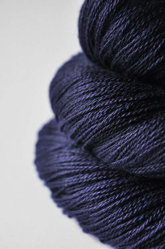 Nocturnal meeting with a Black Mage OOAK- Silk/Merino Yarn Lace weight