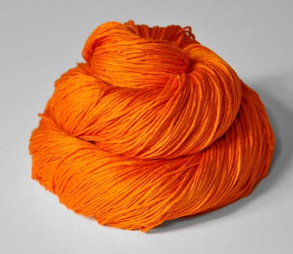 Exploding orange OOAK  - Silk Yarn Fingering weight
