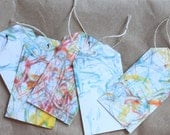 Hand Marbled Paper Holiday Gift Tags Pack of 5