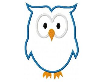Owl Embroidery Machine Applique Design 10604