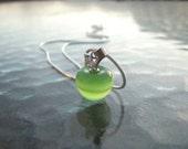 Sterling Silver Green Apple Pendant - An Apple for the Teacher