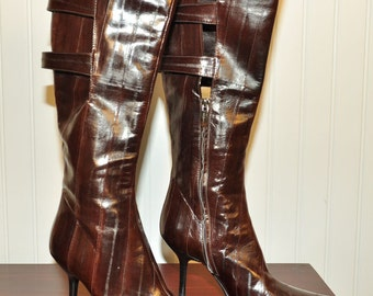 Vintage Eel Skin Boots from Sergio Rossi