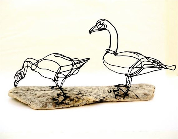 Geese Wire Sculpture