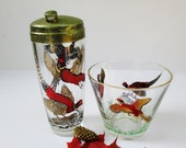 Cocktail Shaker Ice Bucket with Pheasants