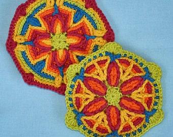 2 Motifs in Overlay Crochet, Pattern, PDF in English, Deutsch