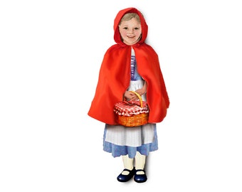 Red Riding Hood costume. Single outfit for magnetic dolls.