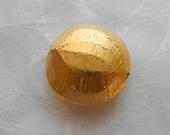 24k Gold Vermeil Beads Karen Hill Tribe Silver Lentil Brushed Bright Disk 18mm
