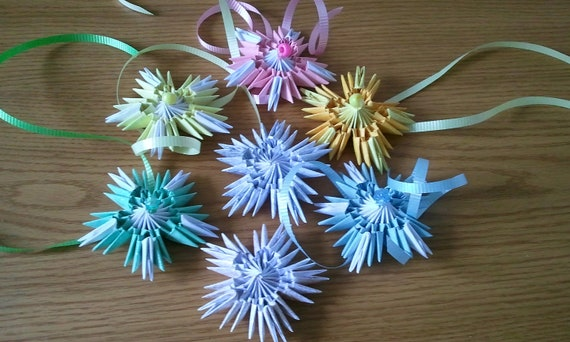 3d origami ornament snowflakes for How to make a real paper snowflake
