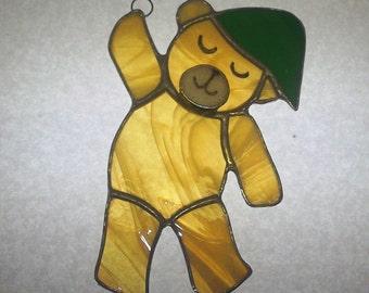 Teddy Bear Stained Glass Sun Catcher