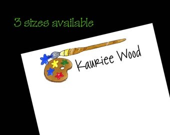 Personalized Art Notepads - Teacher Gift ~ 3 sizes