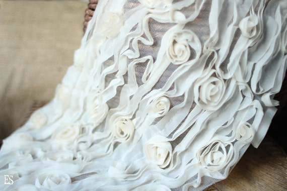 Baby Wrap, Baby Ruffle Wrap in Cream White, Wrap Scarf, Great for Photo Prop