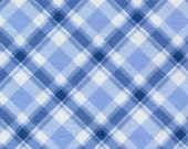 Blue Bias Plaid from Pampered Pooch by Chloe's Closet for Moda, 1 yard