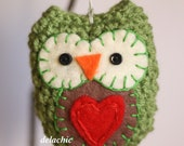 Green Owl Softie Ornament