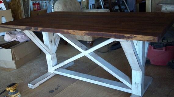 Topmost X Style Farmhouse Trestle Table Popular