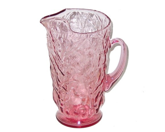 Seneca Driftwood Casual Heather Pink LG 65 oz Glass Pitcher MINT with Tag