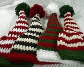 Santas Little Helper Pom Pom Hat for Baby Boy or Girl You choose color and size
