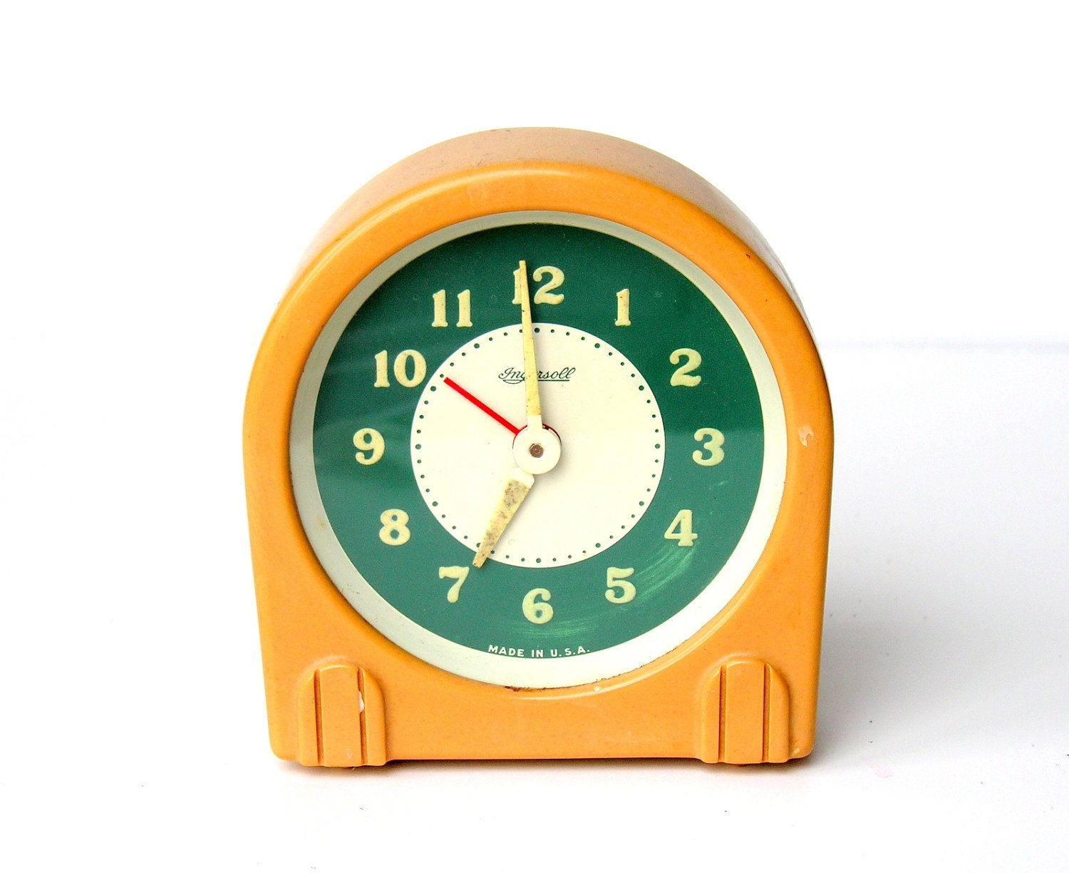 Vintage art deco ingersoll alarm clock early plastic Art deco alarm clocks