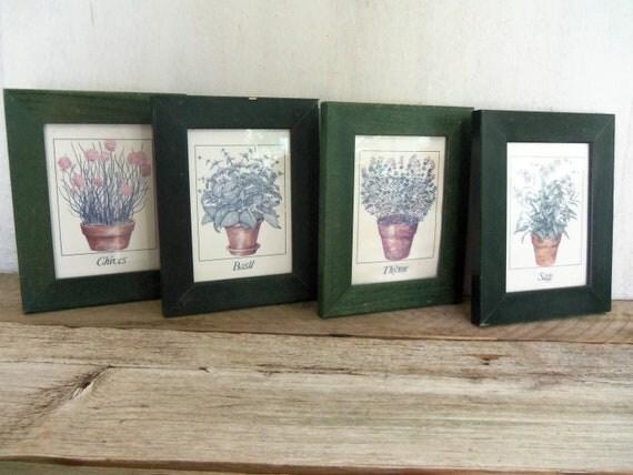 Farmhouse Herb Prints, Set of 4